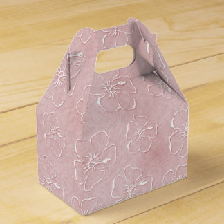 Hibiscus Doodles Gable Gift Box in Pink