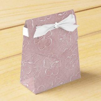 Hibiscus Doodles Tent Style Gift Box in Pink
