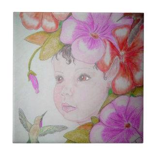 Hibiscus Fairy Tile