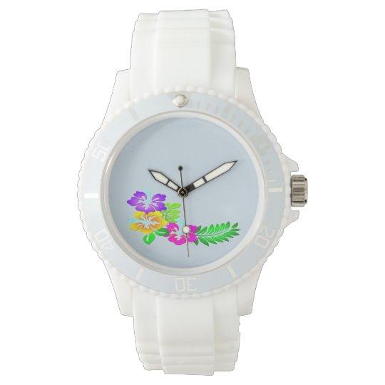 Hibiscus Floral design fashion watch