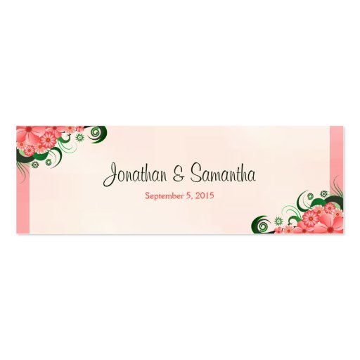 Hibiscus Floral Pink Wedding Favour Favor Tags Business Cards