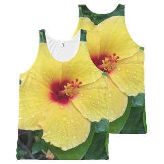 Hibiscus Flower All-Over Print Singlet