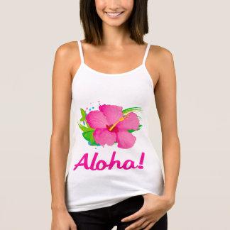 Hibiscus Flower Aloha Singlet