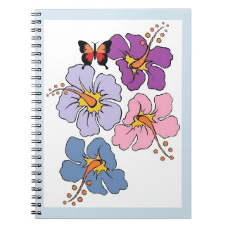 Hibiscus Flower And Butterfly Journal