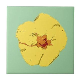 Hibiscus Flower Art Ceramic Tile