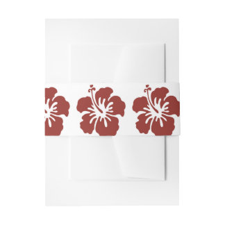 Hibiscus Flower Belly Band Invitation Belly Band