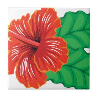 Hibiscus Flower Ceramic Tile