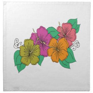 Hibiscus Flower Napkin