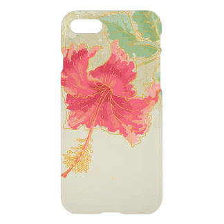 Hibiscus flower on toned background iPhone 7 case