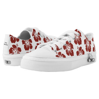Hibiscus Flower Pattern Lace Shoes