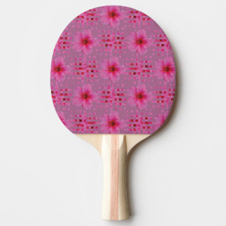 Hibiscus Flower Ping Pong Paddle