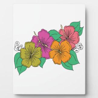 Hibiscus Flower Plaque