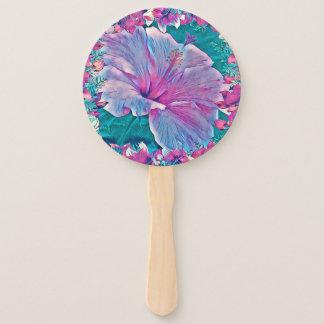 Hibiscus Flower Program Hand Fan