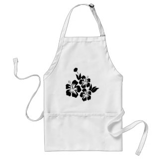 Hibiscus flower standard apron
