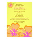 "Hibiscus Flower Tropical 5x7 Bridal Shower Invite 5"" X 7"" Invitation Card"
