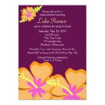 "Hibiscus Flower Tropical 5x7 Bridal Shower Invite 5"" X 7"" Invitation Card"