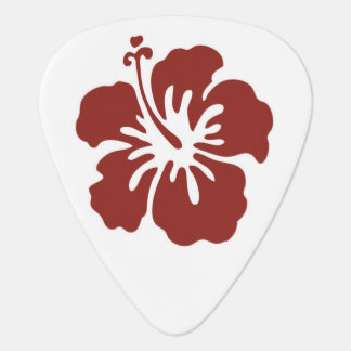 Hibiscus Flower Tropical Guitar Pick