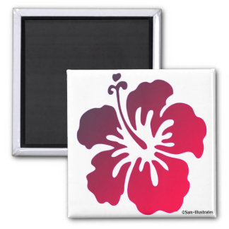 Hibiscus Flower Tropical Magnet