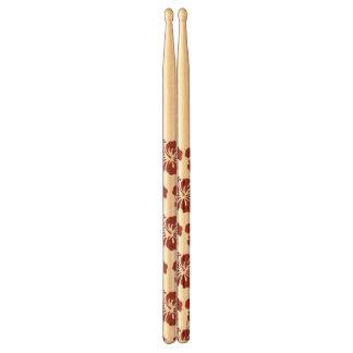 Hibiscus Flower Tropical Pattern Drum Sticks