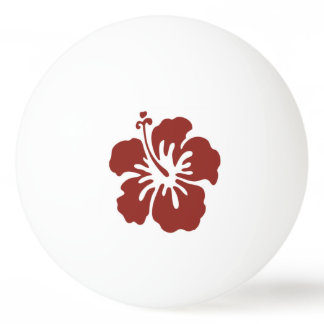 Hibiscus Flower Tropical Ping Pong Ball