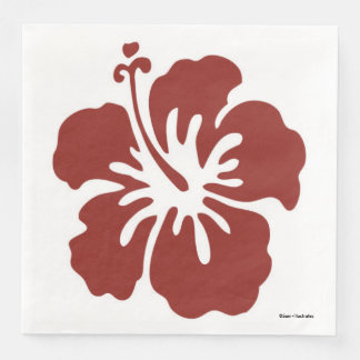 Hibiscus Flower Tropical Themed Napkins Disposable Napkin