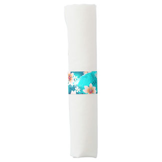 Hibiscus flowers at the beach napkin band