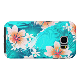 Hibiscus flowers at the beach samsung galaxy s6 cases