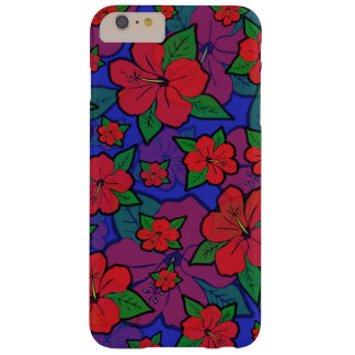 Hibiscus Flowers Blue Barely There iPhone 6 Plus Case