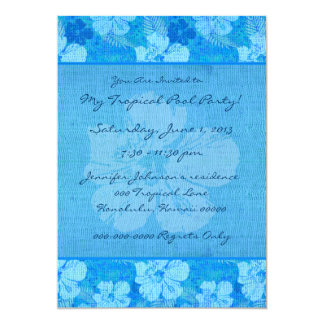 Hibiscus Flowers Blue Batik Fabric Announcement