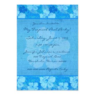 Hibiscus Flowers Blue Batik Fabric Announcements