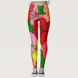 Hibiscus Flowers Leggings