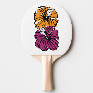 Hibiscus Flowers Ping Pong Paddle