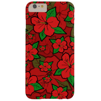 Hibiscus Flowers Red Barely There iPhone 6 Plus Case