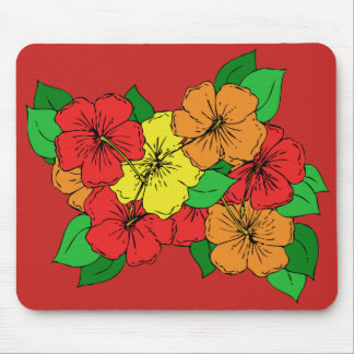 Hibiscus Flowers ROY Mouse Pad
