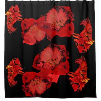 Hibiscus flowers shower curtain