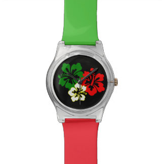 Hibiscus Flowers Watch