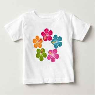 Hibiscus Flowers Wreath Baby T-Shirt