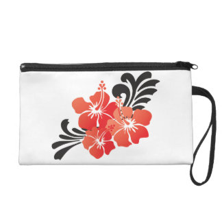 Hibiscus Flowers Wristlet