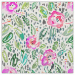 Hibiscus Frolic Painterly Watercolor Fabric