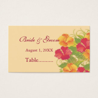 hibiscus garden ~ seating card