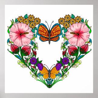 Hibiscus Heart Poster