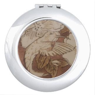 Hibiscus Humming Bird Compact Mirror