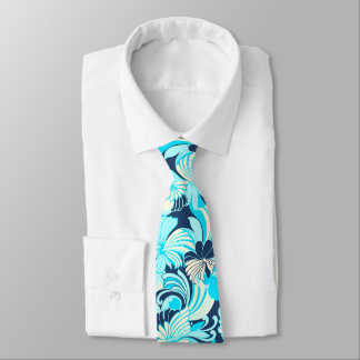 Hibiscus Jungle Floral Hawaiian Two-sidedPrinted Tie