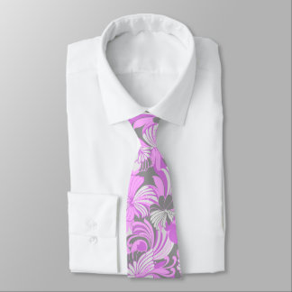 Hibiscus Jungle Floral Hawaiian Two-sided Printed Tie