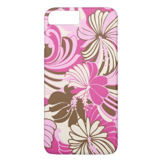 Hibiscus Jungle Hawaiian Tropical Floral Pink iPhone 8 Plus/7 Plus Case