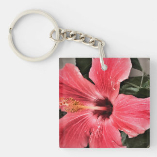 Hibiscus Keychain