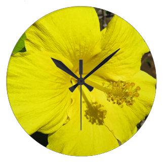Hibiscus Large Clock