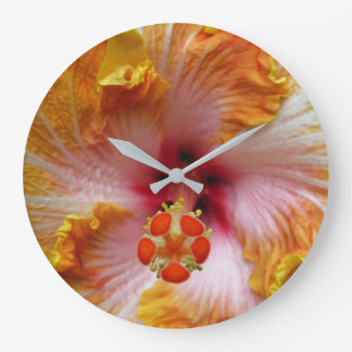 Hibiscus Large Clock