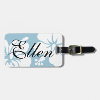HIBISCUS LUGGAGE TAG