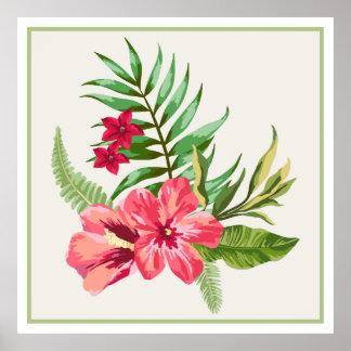 Hibiscus Native Hawaiian Flowers Poster